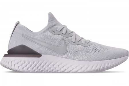 Nike Men's Epic React Flyknit 2 Running Shoes - Pure Platinum/Wolf Grey
