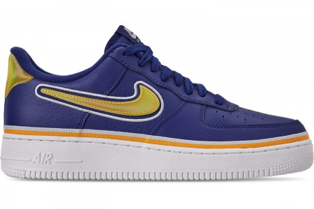 Nike Boys' Big Kids' Air Force 1 '07 LV8 Sport Casual Shoes - Deep Royal/University Gold/Off White