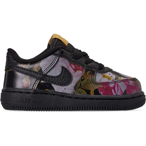 Nike Girls' Toddler Air Force 1 '07 LXX Casual Shoes - Black/Black/Metallic Gold