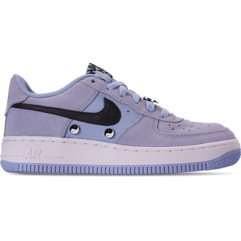 Nike Big Kids' Air Force 1 LV8 Day Casual Shoes - Aluminum/Black/White