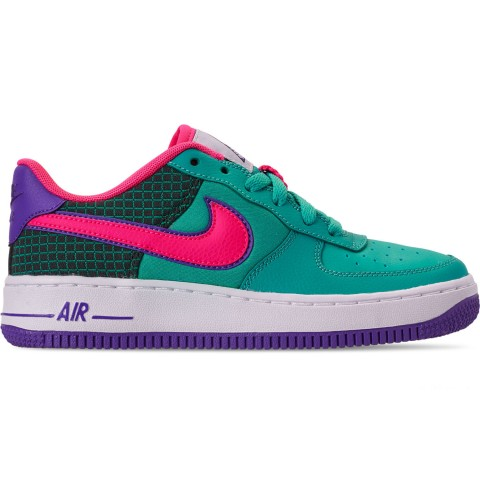Nike Boys' Big Kids' Air Force 1 Now Casual Shoes - Cabana/Hyper Pink/Outdoor Green