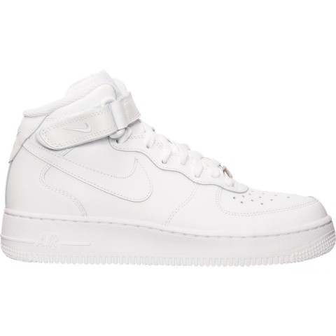Nike Big Kids' Air Force 1 Mid Casual Shoes - White/White
