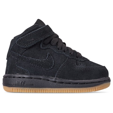 Nike Boys' Toddler Air Force 1 Mid LV8 Casual Shoes - Black/Black Gum/Light Brown