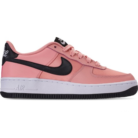 Nike Girls' Big Kids' Air Force 1 VDay Casual Shoes - Bleached Coral/Black/White