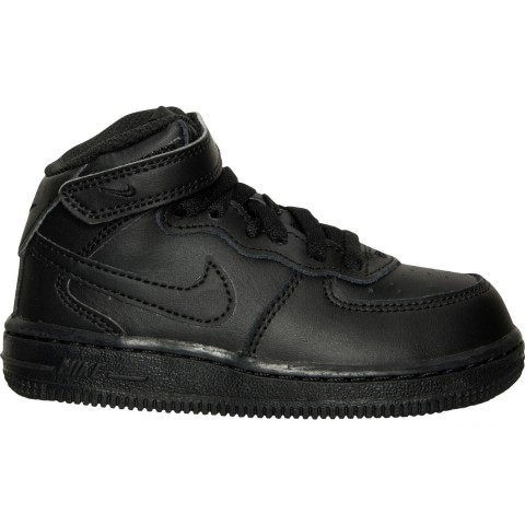Nike Toddler Air Force 1 Mid Basketball Shoes - Black