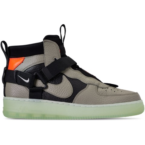 Nike Men's Air Force 1 Utility Mid Casual Shoes - Spruce Fog/Black/Frosted Spruce