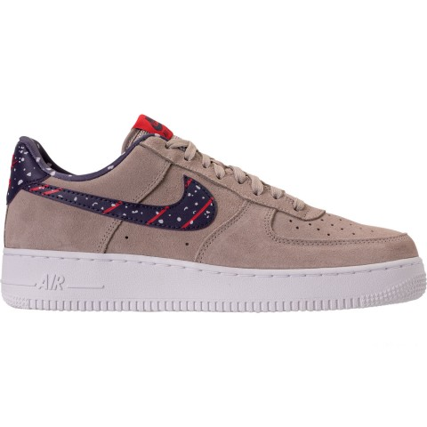 Nike Men's Air Force 1 Low Casual Shoes - Moon Particle/Neutral Indigo/White