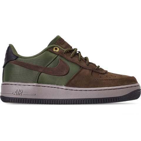 Nike Boys' Big Kids' Air Force 1 Premier Casual Shoes - Baroque Brown/Medium Olive/Army Olive/Medium Olive