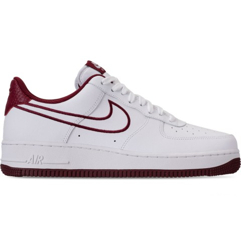 Nike Men's Air Force 1 '07 Leather Casual Shoes - White/Team Red
