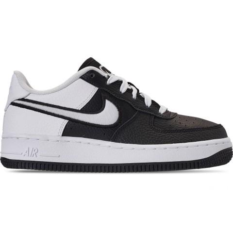 Nike Boys' Big Kids' Air Force 1 LV8 1 Casual Shoes - Black/White
