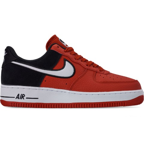 Nike Men's Air Force 1 '07 LV8 1 Casual Shoes - Mystic Red/White/Black