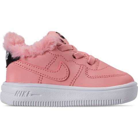 Nike Girls' Toddler Air Force 1 '18 Casual Shoes - Bleached Coral/Bleached Coral/Black