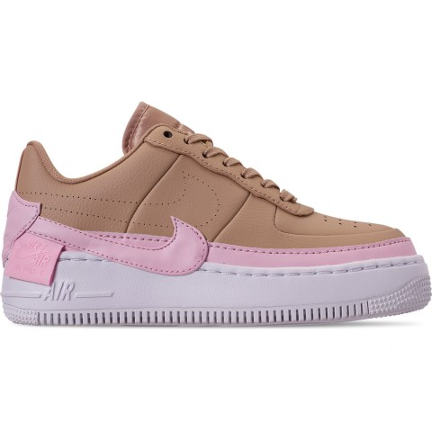 Nike Women's AF1 Jester XX Casual Shoes - Bio Beige/Pink Force/White