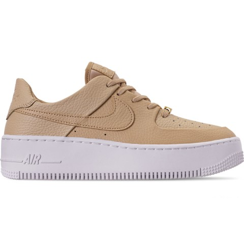 Nike Women's AF1 Sage XX Low Casual Shoes - Desert Ore/Desert Ore/White