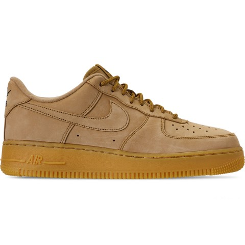 Nike Men's Air Force 1 '07 Low Wheat Casual Shoes - Flax/Gum Light Brown/Outdoor Green
