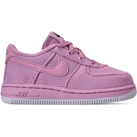 Nike Girls' Toddler Air Force 1 '07 LV8 Style Casual Shoes - Light Arctic Pink/Black