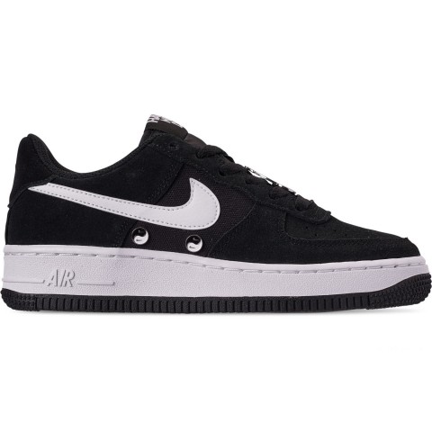 Nike Big Kids' Air Force 1 LV8 Day Casual Shoes - Black/White