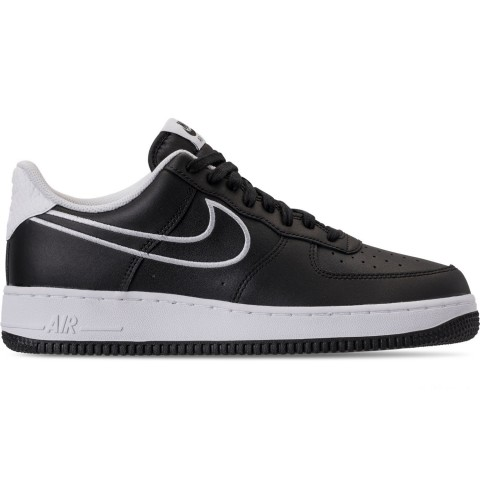 Nike Men's Air Force 1 '07 Leather Casual Shoes - Black/White