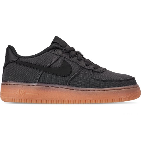 Nike Boys' Big Kids' Air Force 1 '07 LV8 Style Casual Shoes - Flat Pewter/Flat Pewter/Gum Medium