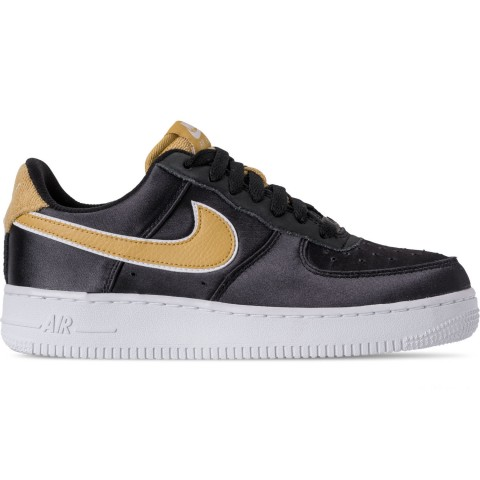 Nike Women's Air Force 1 '07 SE Casual Shoes - Black/Wheat Gold/White