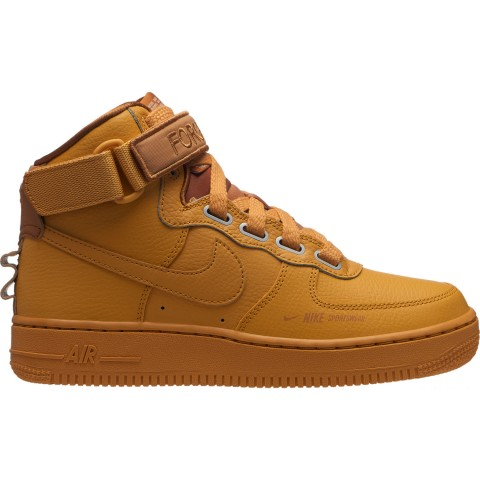 Nike Women's Air Force 1 High Utility Casual Shoes - Wheat Gold/Muted Bronze