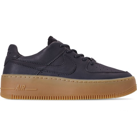 Nike Women's Air Force 1 Sage Low LX Casual Shoes - Oil Grey/Gum Light Brown/White