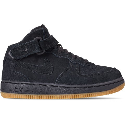 Nike Boys' Little Kids' Air Force 1 Mid LV8 Casual Shoes - Black/Black/Gum Light Brown