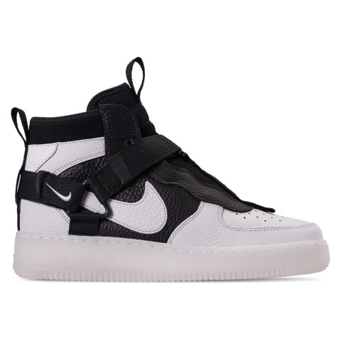 Nike Men's Air Force 1 Utility Mid Casual Shoes - Off White/Black/White