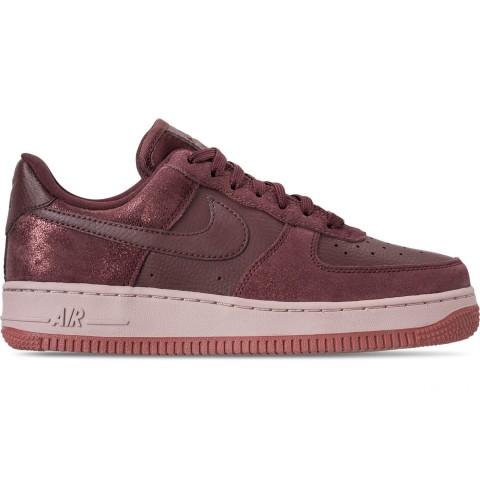 Nike Women's Air Force 1 '07 Premium Casual Shoes - Burgundy Crush