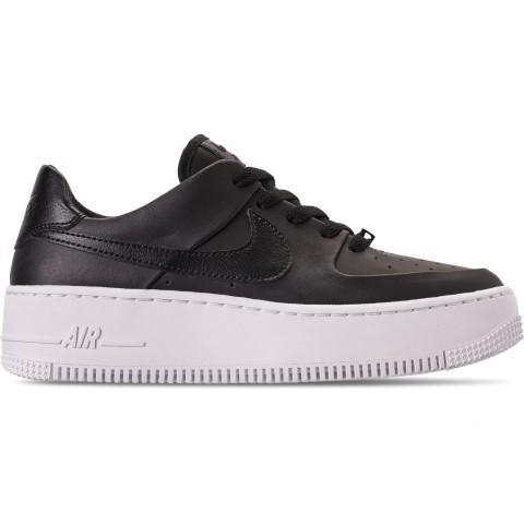 Nike Women's AF1 Sage XX Low Casual Shoes - Black/Black/White