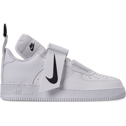 Nike Men's Air Force 1 Utility Casual Shoes - White/White/Black