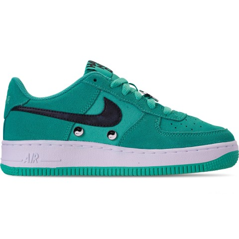 Nike Big Kids' Air Force 1 LV8 Day Casual Shoes - Hyper Jade/Black/White
