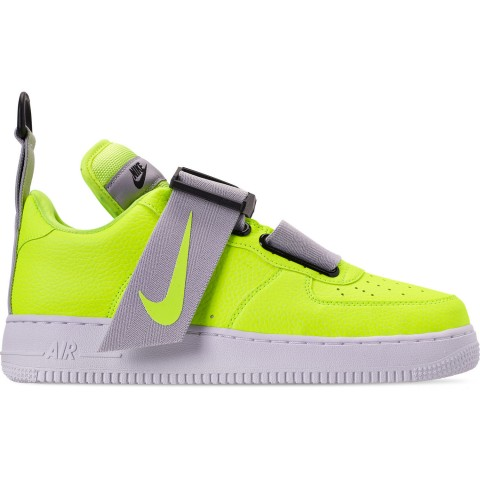 Nike Men's Air Force 1 Utility Casual Shoes - Volt/White/Black