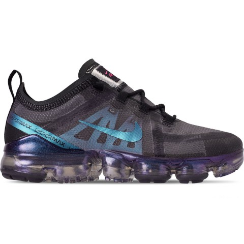 Nike Men's Air VaporMax 2019 Running Shoes - Black/Laser Fuchsia/Anthracite