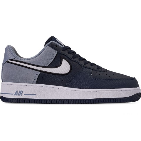 Nike Men's Air Force 1 '07 LV8 1 Casual Shoes - Obsidian/White/Obsidian Mist/Black