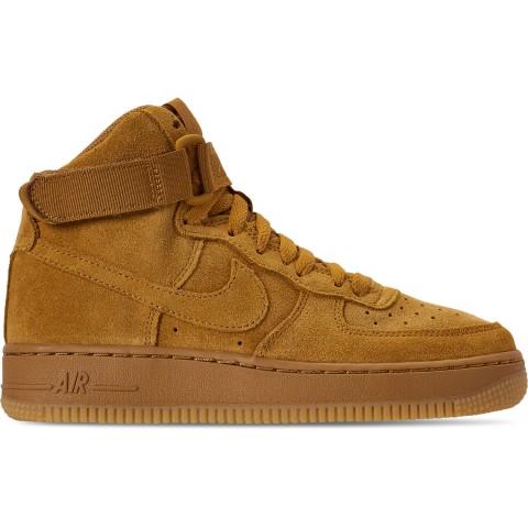Nike Boys' Big Kids' Air Force 1 High LV8 Casual Shoes - Wheat/Wheat Gum/Light Brown