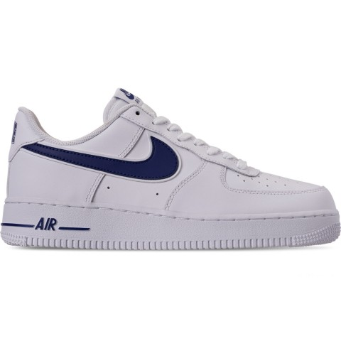 Nike Men's Air Force 1 '07 3 Casual Shoes - White/Deep Royal