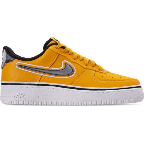 Nike Men's Air Force 1 '07 LV8 Sport Casual Shoes - University Gold/Black/White