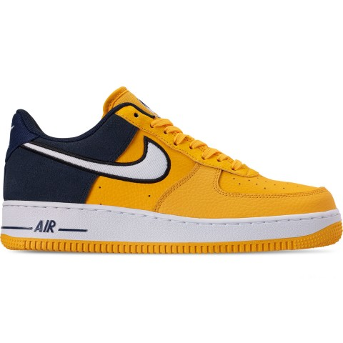 Nike Men's Air Force 1 '07 LV8 1 Casual Shoes - Amarillo/White/Obsidian/Black